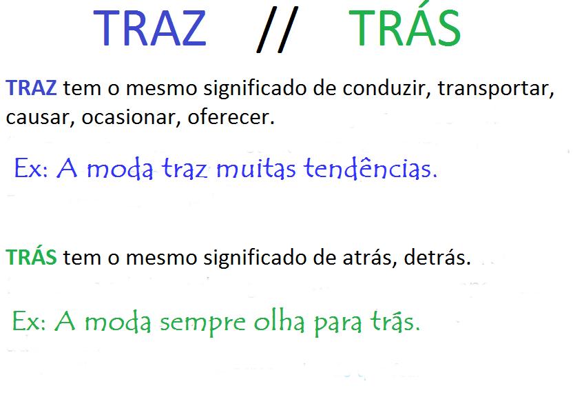 Trás ou Traz